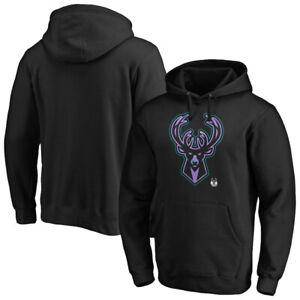 Milwaukee Bucks Men's Hoodie NBA Iconic Pastel L0go Graphic Hooded Sweatshirt