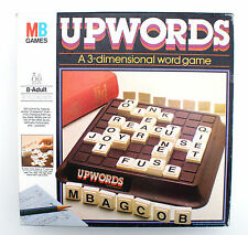 UPWORDS - MB GAMES 1984  - THE 3D GAME OF HIGH-RISE WORD-BUILDING