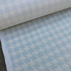 Houndstooth Dogtooth Pattern Cotton Print Fabric Curtain Blinds Craft Quilting