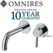 OMNIRES 2 HOLE CONCEALED WALL MOUNTED BASIN BATH SINK MIXER TAP MODERN CHROME