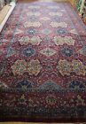 AGRA INDIA ANTIQUE 1920s HAND KNOTTED WOOL PALACE SIZE ORIENTAL RUG  13' x 26'