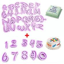 36 tlg. Ausstecher Buchstaben Zahlen Alphabet Fondant Marzipan Tortendeko Kuchen