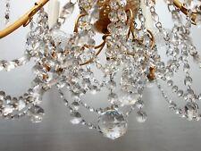 Lustre ancien pampilles cristal dans le goût de Baccarat