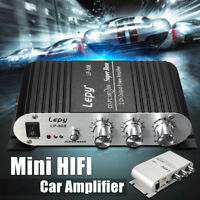 Mini 20W*2 Subwoofer Stereo Audio Amplifier Amp For Car Motorcycle Boat