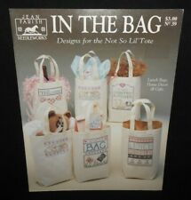 Vtg Jean Farish Cross Stitch Chart IN THE BAG Leaflet #39 Canvas Tote Bunnies
