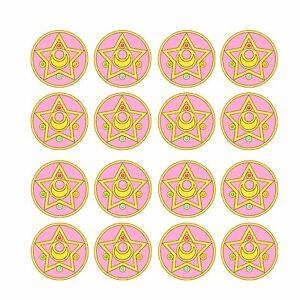 24x Sailor Moon Edible Cupcake Toppers Wafer Paper 4cm (uncut)