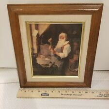 Norman Rockwell Christmas Santas Workshop Framed Art Painting Canvas Print