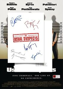 The Usual Suspects Script/Screenplay W/Movie Poster And Autographs Signed Print