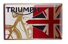 Genuino motocicletas Triumph Pin Insignia-bandera & Demin diseño de logotipo gran idea del regalo