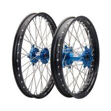 Yamaha YZ125 YZ125X YZ250 YZ250X 2002–2020 Tusk Impact 21/18 Wheel Kit Blck/Blue