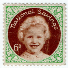 (I.B) Cinderella Collection : National Savings - Princess Anne 6d (1954)