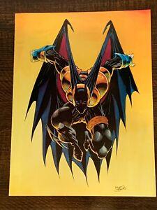 BATMAN 500 Knightfall Cutout from Artist Kelly Jones 1993 Previews Volume III #6