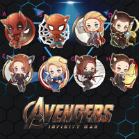 Marvel The Avengers Steve Bucky Loki Thor Tony Acrylic Keychain Keyring Pendant