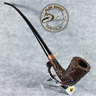 """EXCLUSIVE HAND MADE CARVED BRIAR LONG smoking pipe  """" GALHAR """" Churchwarden LOTR"""