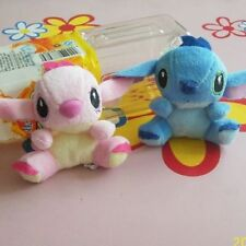2pcs blue and pink star baby plush mobile phone pendant stitch.