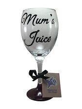 Hermoso Regalo Para Mamá, las madres Jugo Pintado a Mano copas de vino con base púrpura