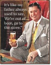 Father Like To Say Funny Metal Tin Sign Bar Retro Dorm Beer Wine Alcohol Funny
