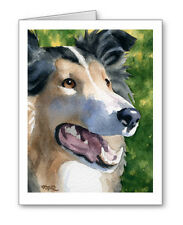 Collie Set of 10 Note Cards With Envelopes
