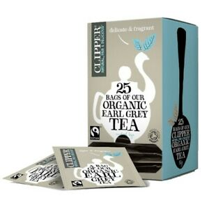 Clipper Earl Grey Enveloped Teabags 6 Boxes 25  Supplied  Dated Jan 2021