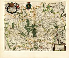 MAP ANTIQUE BLAEU THEATRE DU MONDE BRABANT BRUSSELS REPLICA POSTER PRINT PAM0639