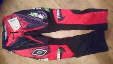 ONEAL MAYHEM RED AND BLACK MOTOCROSS TROUSERS PANTS BOTTOMS SIZES 27 28 30 32