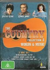 THE COUNTRY COLLECTION 3 WORDS AND MUSIC - PATSY CLINE GEORGE JONES LORETTA LYNN