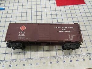 O gauge 2 rail Brass LS&I 40' boxcar unknown maker