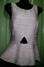 NEW Dotti L14 Princess Dusty Pink Cutout Triangle Fitted Stretch Lined Party Top
