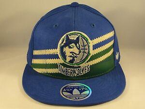 NBA Minnesota Timberwolves Adidas Size S/M Flexfit Hat Cap Blue
