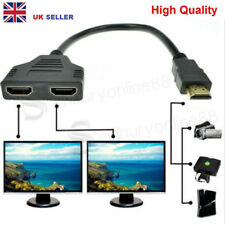 1080P HDMI Port Male to 2 Female 1 In 2 Out Spliter Cable Adapter for HDTV  PS3