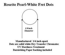 Rosette Dry Transfer Pear lWhite Fret Dots for Classical Guitar