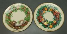 "Lot 2 Lenox Colonial Christmas Wreath Issue 11"" Dinner Plates 1987 1988 Ltd. Ed"