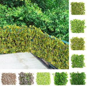 Artificial Ivy Leaf Expandable Stretchable Trellis Fence Privacy Screen Balcony