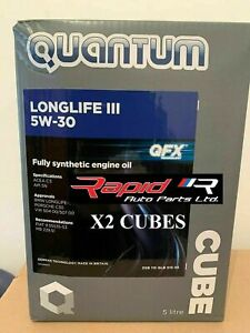 QUANTUM 5w-30 Longlife 3 C3 Fully Synthetic Oil 2 x 5 LITRES (10 LITRES) BMW VW