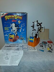 Vintage 1989 Rattle Me Bones Motorized Game by TYCO /Tested & Working! Read Desc