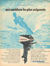 Publicité 1969  Le nouveau 25 CV  EVINRUDE moteur hors bord bateau