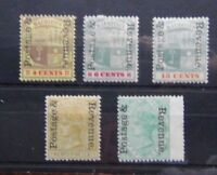Mauritius 1902 Overprint values to 50c Green MM