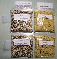 Canary Finch treat 4 pack Sprout seed, Egg food 2 each free shipping