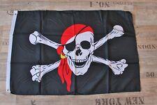 Flagge / Fahne Pirat Jolly Roger ca. 90 x 60 cm Polyester, Saum & 2 Metallösen
