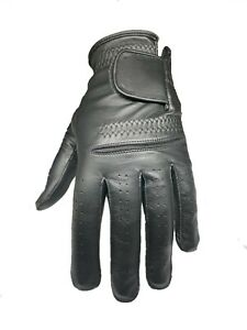 ****New**** Mens Black ALL Leather Cabretta Golf Gloves (Left Hand)