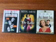 AllAbout Eve,TheLetter,The CateredAffair,3 Bette Davis Classics, cool, like new!