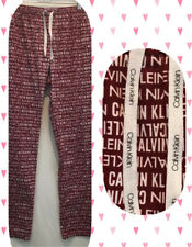 Calvin Klein White Red Spellout Casual Loungewear  Sleepwear Pajama Pants M