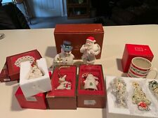 Lenox Christmas Ornaments Figurines Coffee Cup Snow Lights Platter