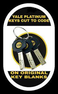 2 x yale platinum / yale superior key cutting to code. yale security key cutting
