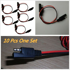 10 X Motorcycle ATV 18-Gauge 2-Pin Molded SAE Connectors Disconnect Wire Harness