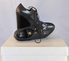 N/B Versace Women Shoes Grey/Black Laced Platform EU 36