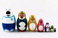 Pororo Little Penguin Matryoshka Russian Nesting Dolls Stacking Matreshka 7 Pcs