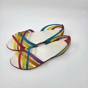 Crocs Women Size 9 Multicolor Open Toe Flats