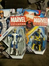 """Hasbro Marvel Universe Angel Blue/Cyclops 3 3/4"""" Inch Action Figure lot of 2"""