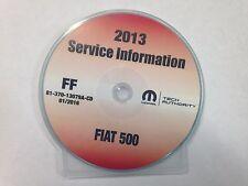 2013 CHRYSLER FIAT 500 Service INFORMATION Shop Manual CD DVD OEM BRAND NEW